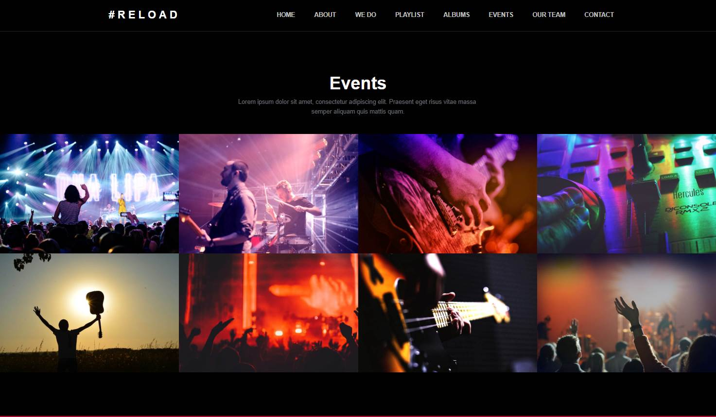 Reload: A Music Event Bootstrap HTML Template