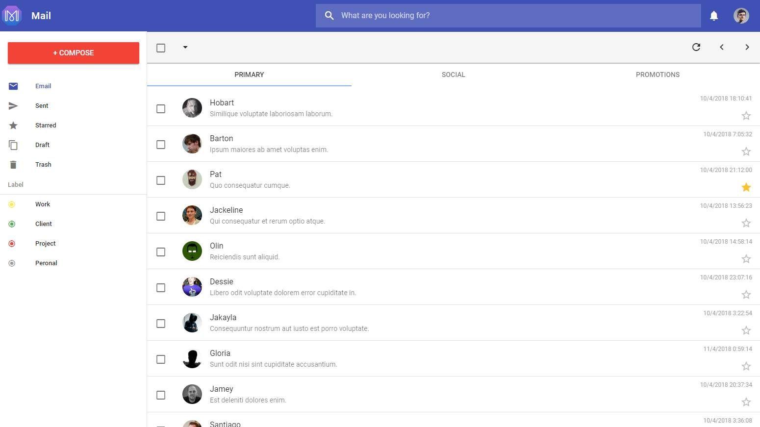 Vue Material Admin: A vue material design template