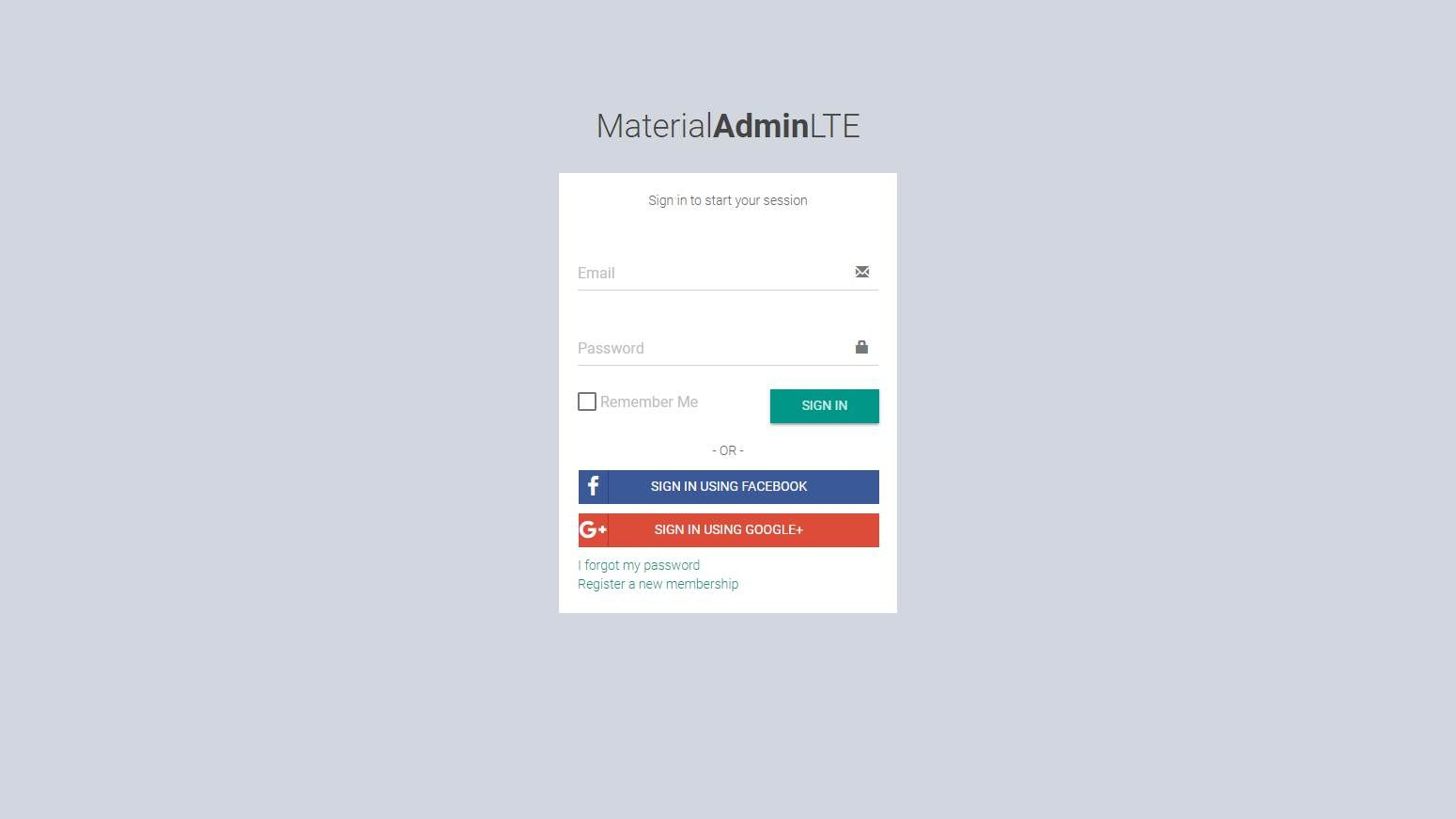MaterialAdminLTE 2: The Material Version of AdminLTE | Best Free
