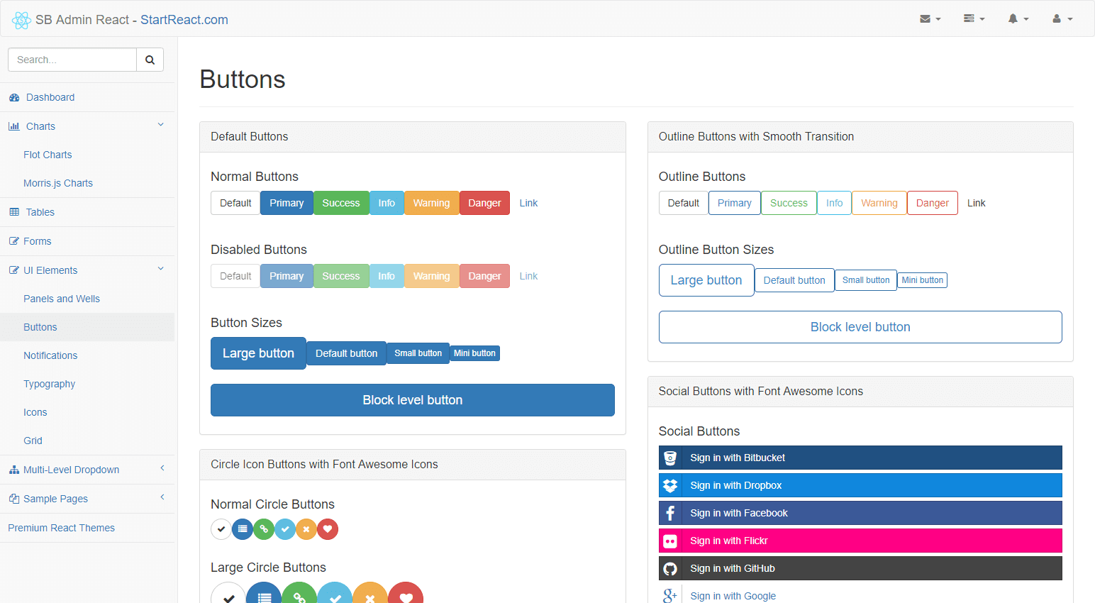 sb admin react  an admin bootstrap react theme