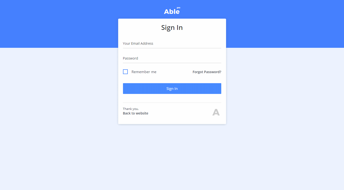 Able Pro Lite: A Free Bootstrap 4 Admin