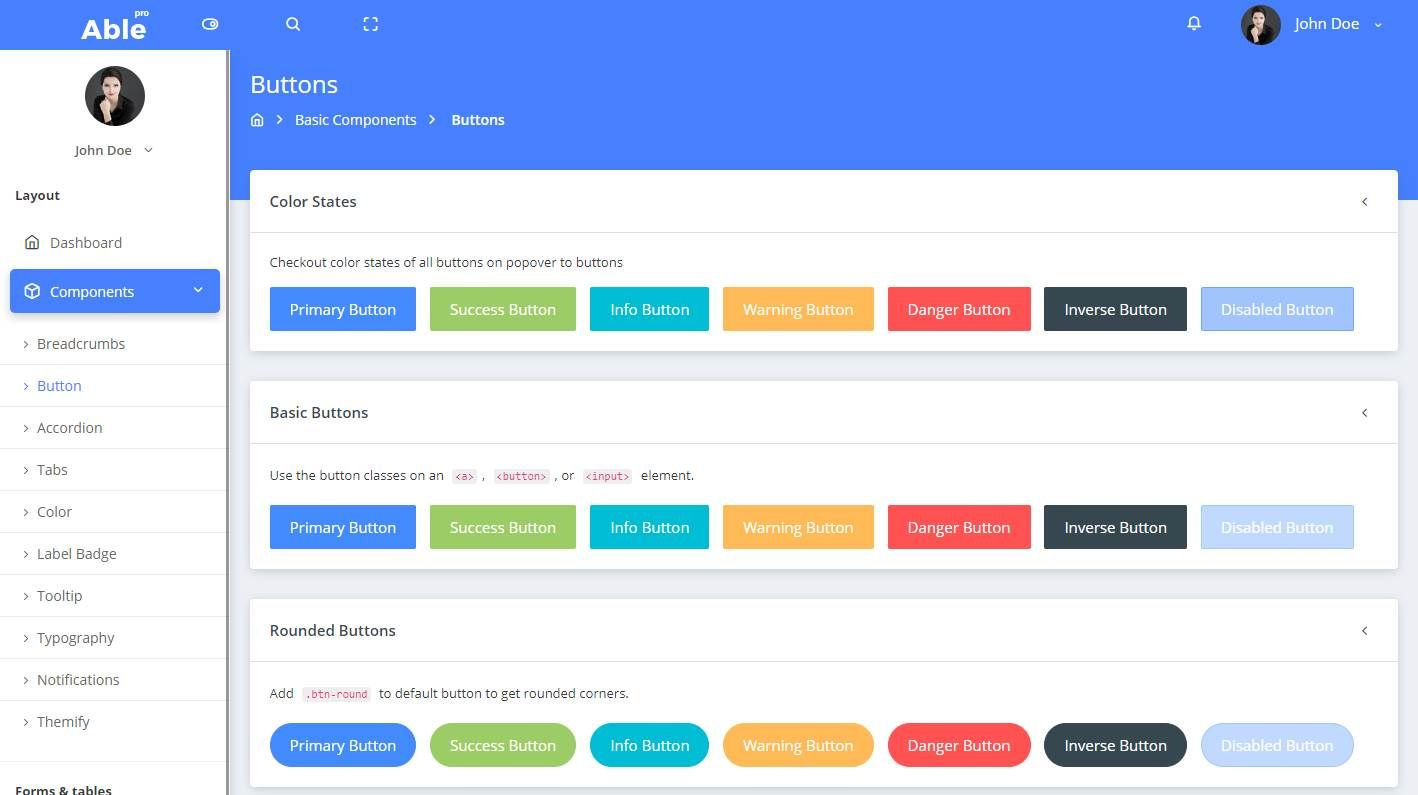Able Pro Lite: A Free Bootstrap 4 Admin | Best Free HTML/CSS