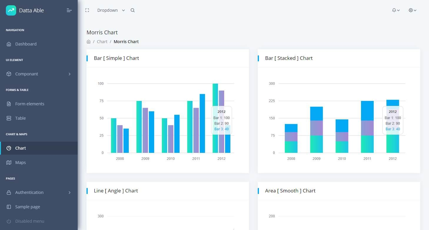 Datta Able Lite: A Free Bootstrap 4 Dashboard
