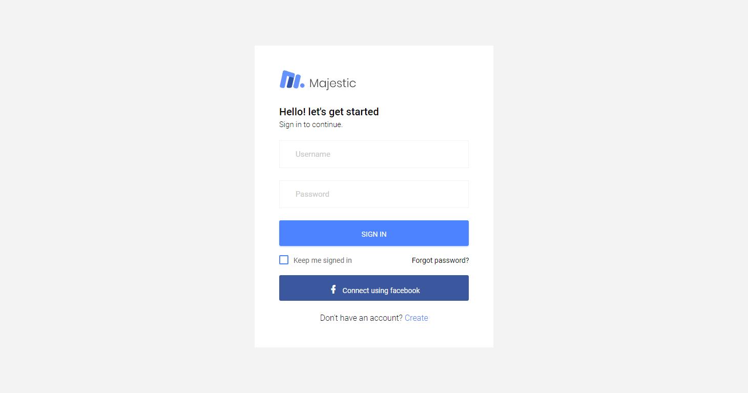 Majestic Admin: A Free Bootstrap Admin Template