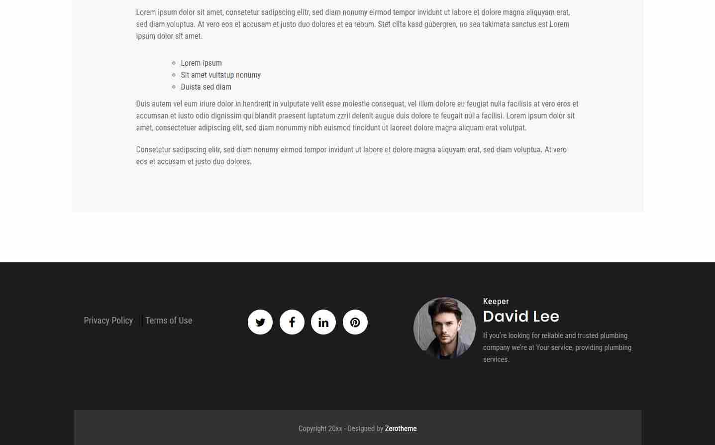 zCrocodile: A Free Bootstrap Website Theme