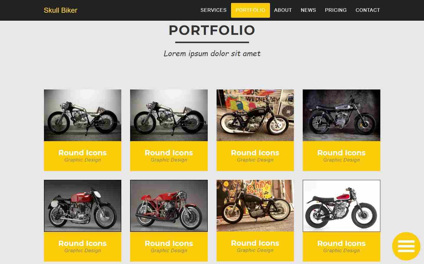 zSkullBiker: A Free Bootstrap Website Theme
