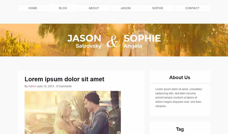 zYourWedding: A Free Bootstrap Wedding Website Theme