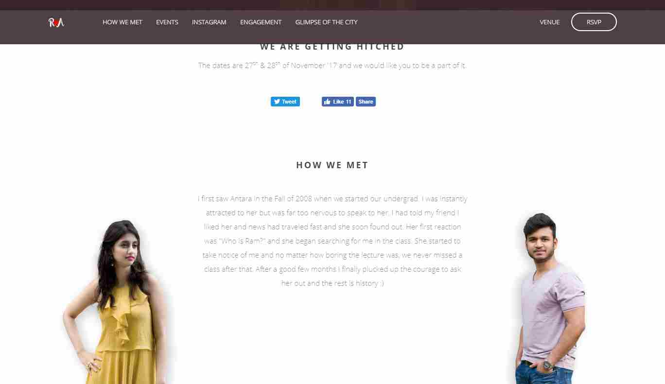 Rampatra Wedding: A Feature Rich, Device Friendly Wedding Website Template