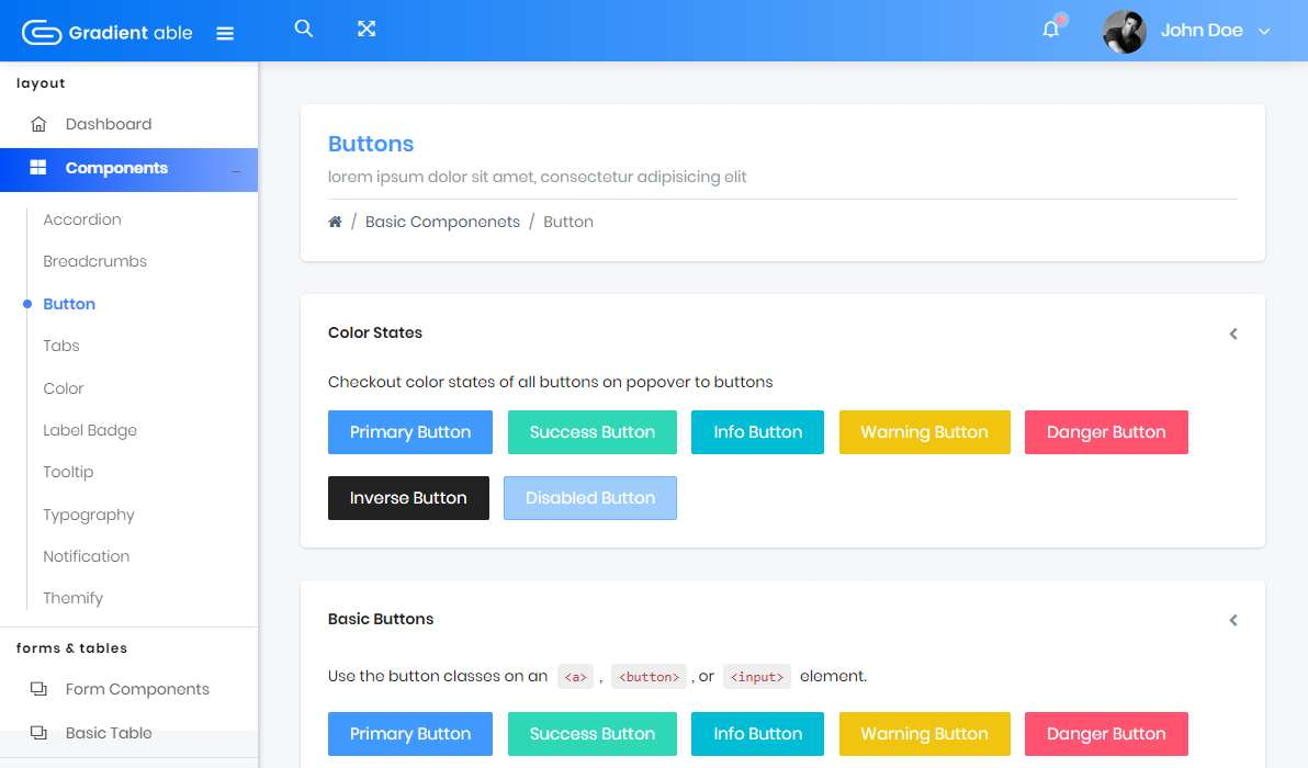 Gradient Able Bootstrap 4 Lite: A Free/Lite Admin Template