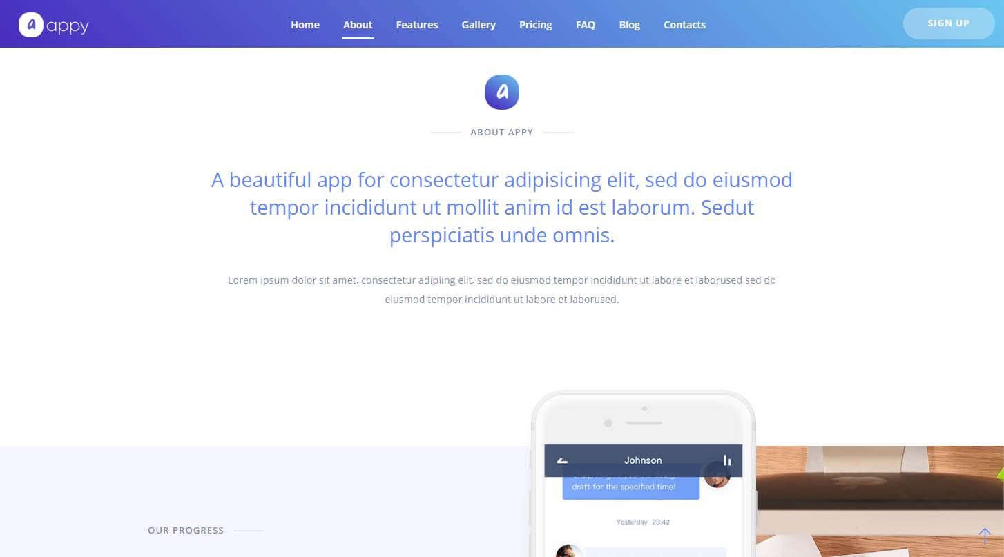Appy: A Modern Mobile App Landing Page