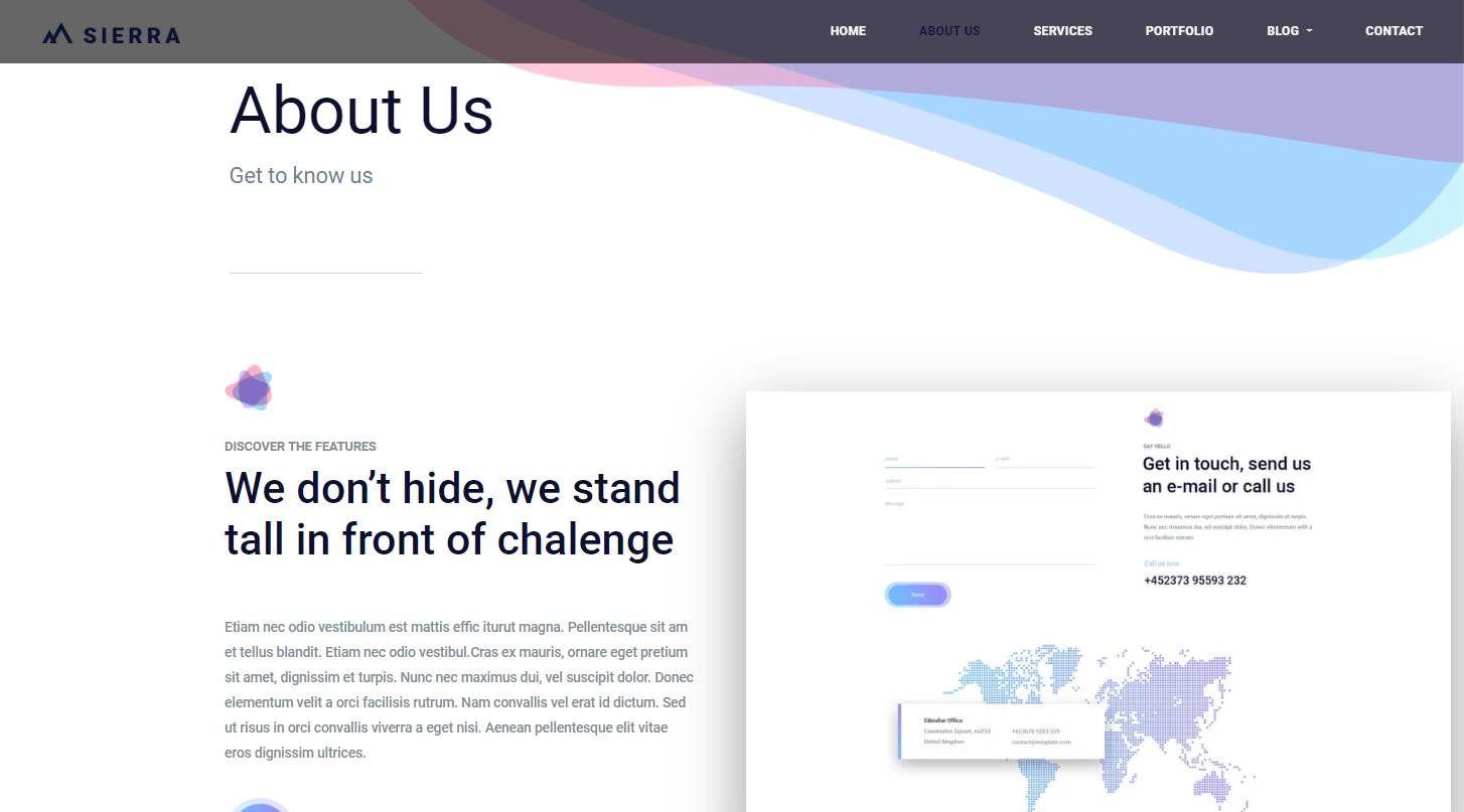 Sierra: A Free Bootstrap Desktop App Startup Website Template