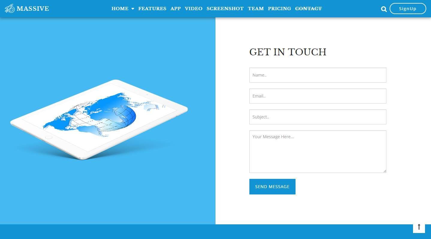 Massive: A Free Responsive App Landing Website Template