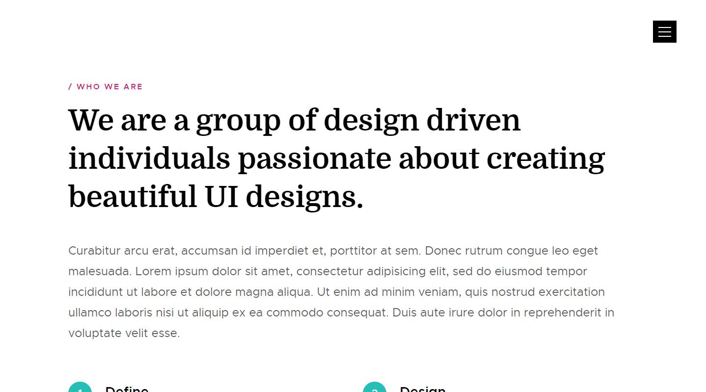 Transcend: A Free Design Studio Website Template