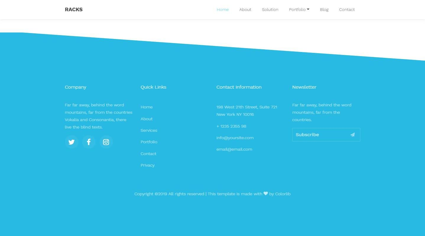 Racks: A Sparking Free Software Company Website Template