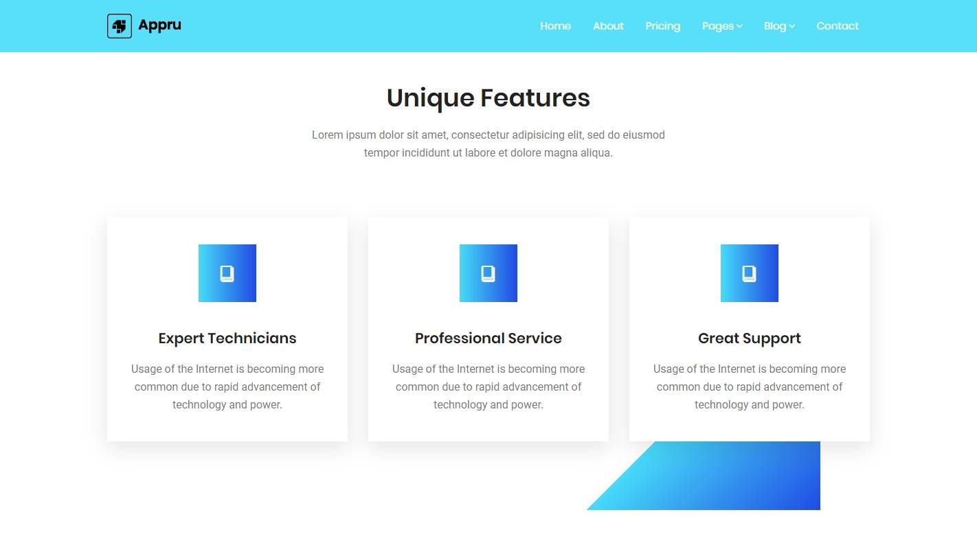 Appru: A Modern, Optimized Mobile Application Landing Page