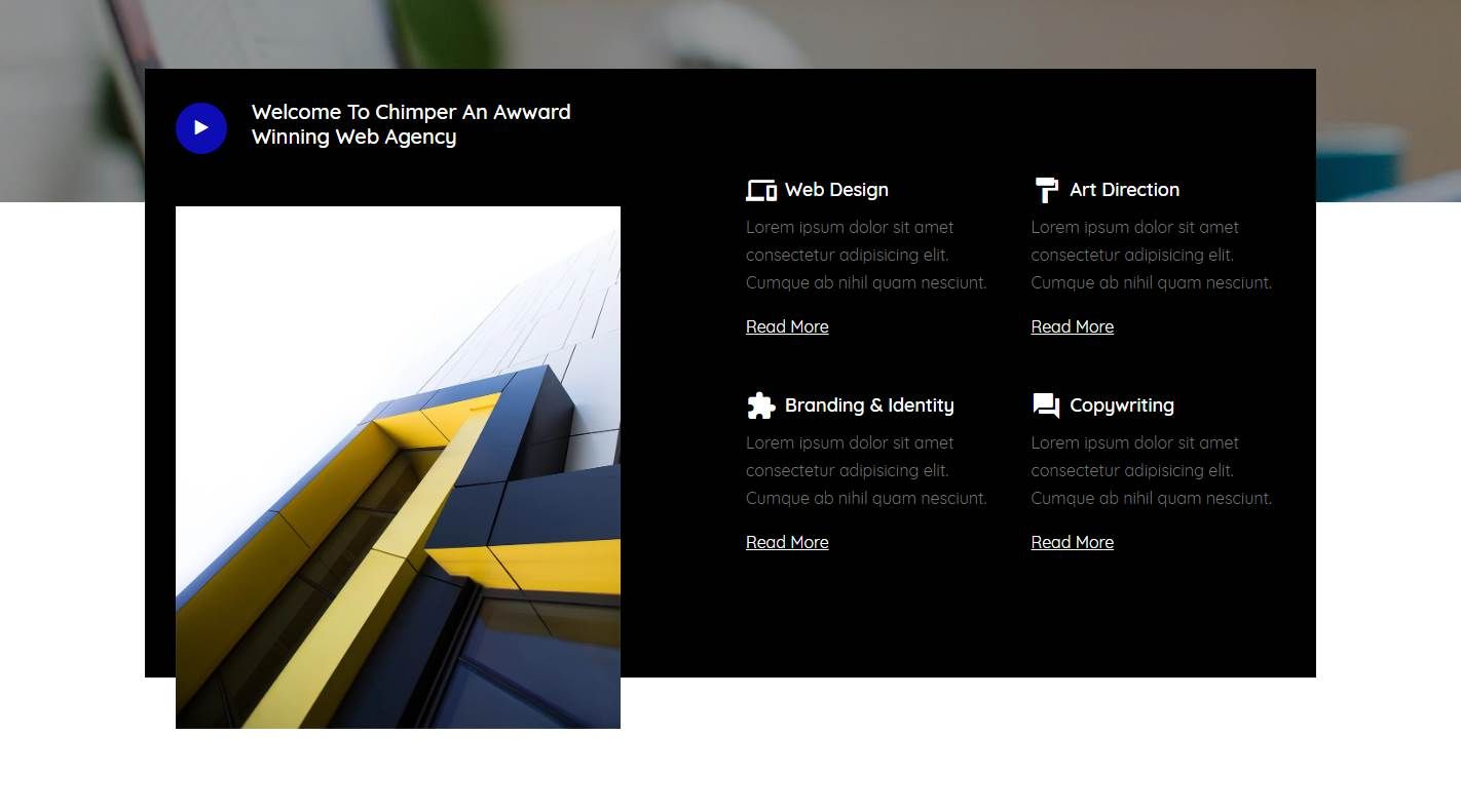 Chimper: a Free Responsive Web Agency Website Template