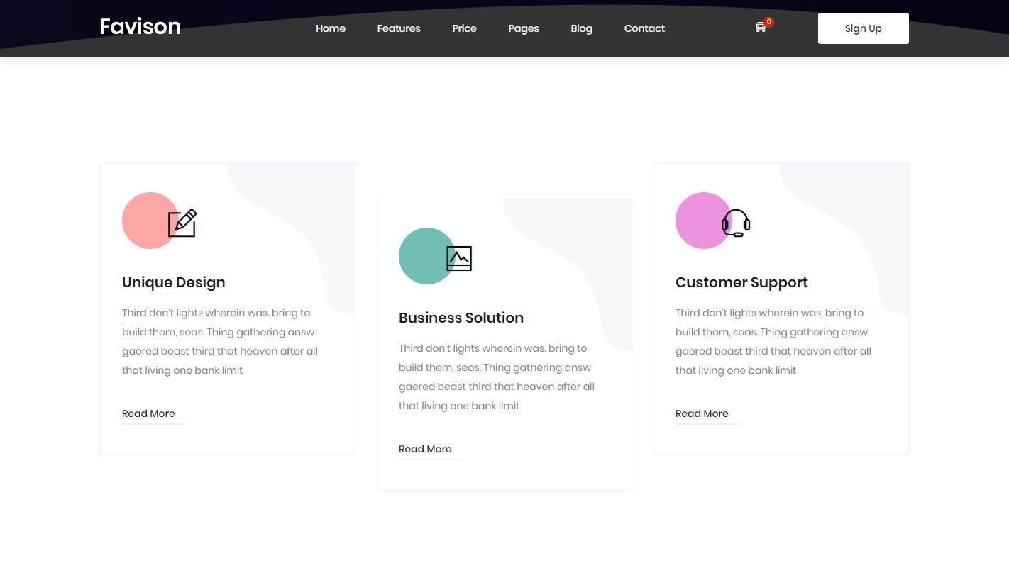 Favison: a Modern, Professional and Sophisticated Software Company Template