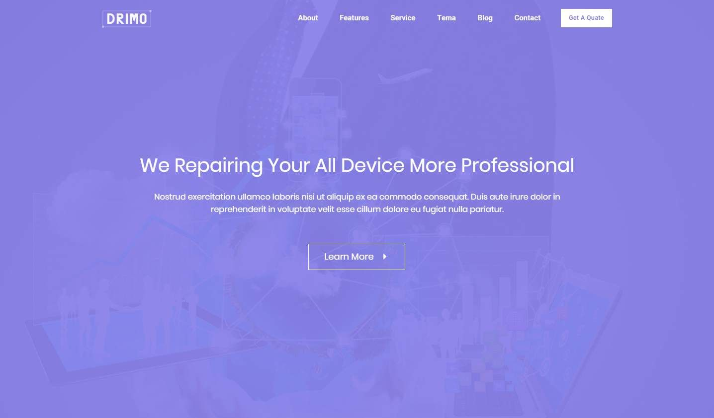 Drimo: a Multipurpose Website Template