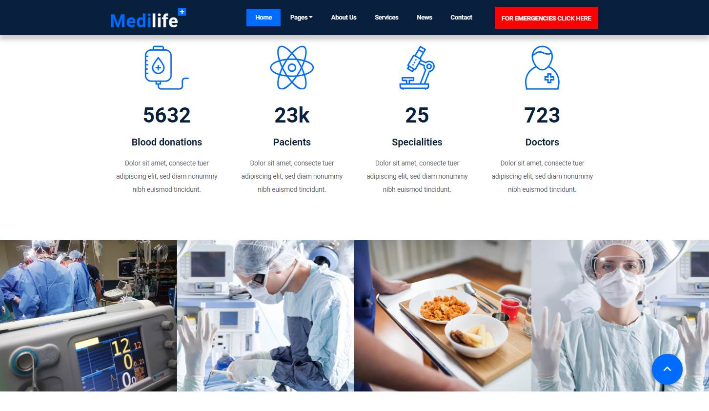 Medilife: a Free Responsive Medical Website Template