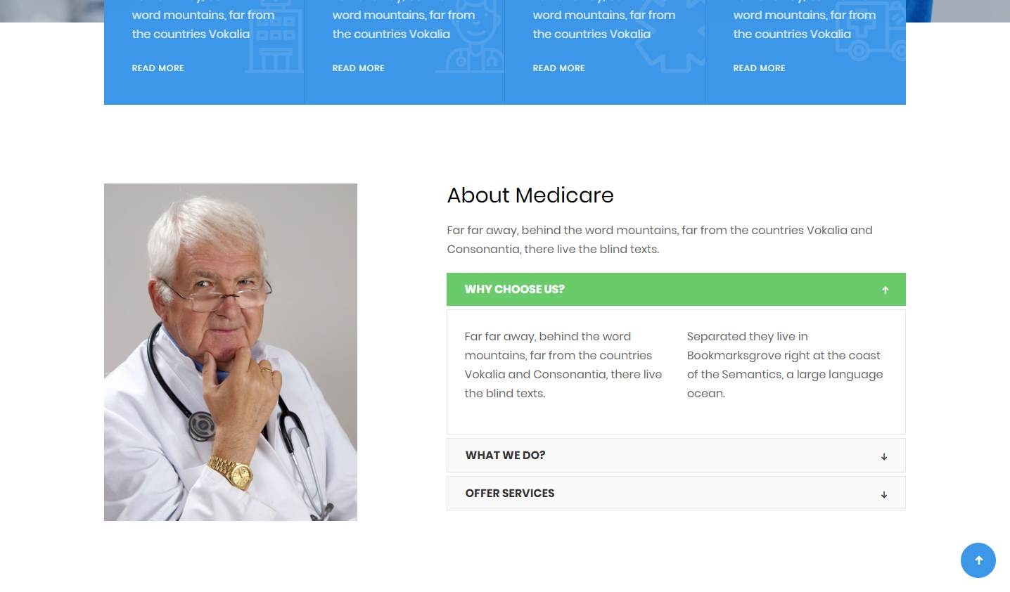Medicare: a Free Hospital and Clinics Website Template