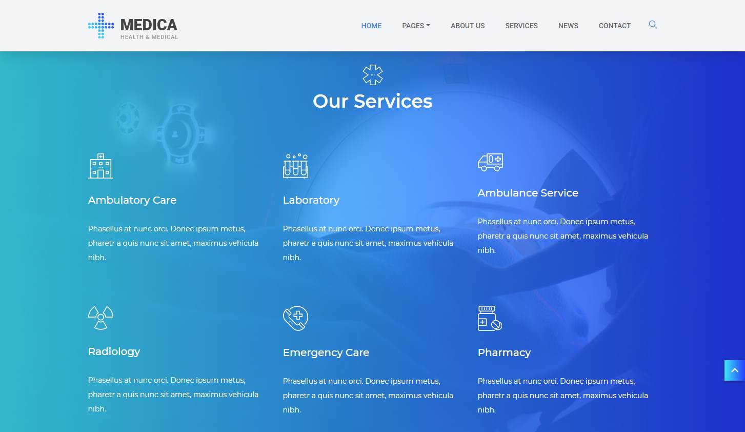 Medica: a Free Health and Medical Website Template