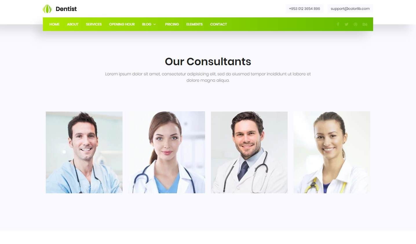 Dentist: a Mobile-Ready Free Dental Website Template For Clinics