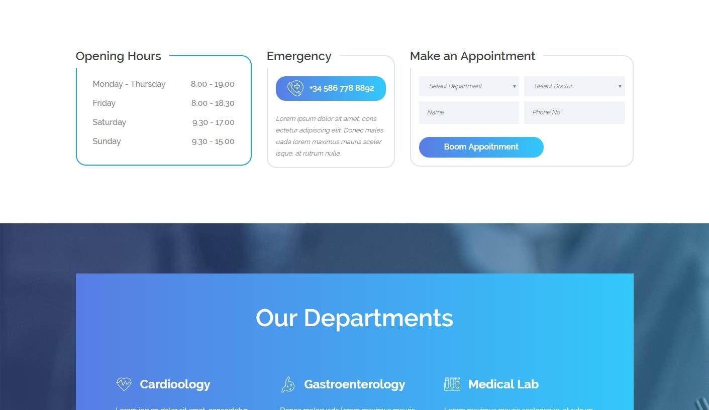 Medart: a Medical Website Template