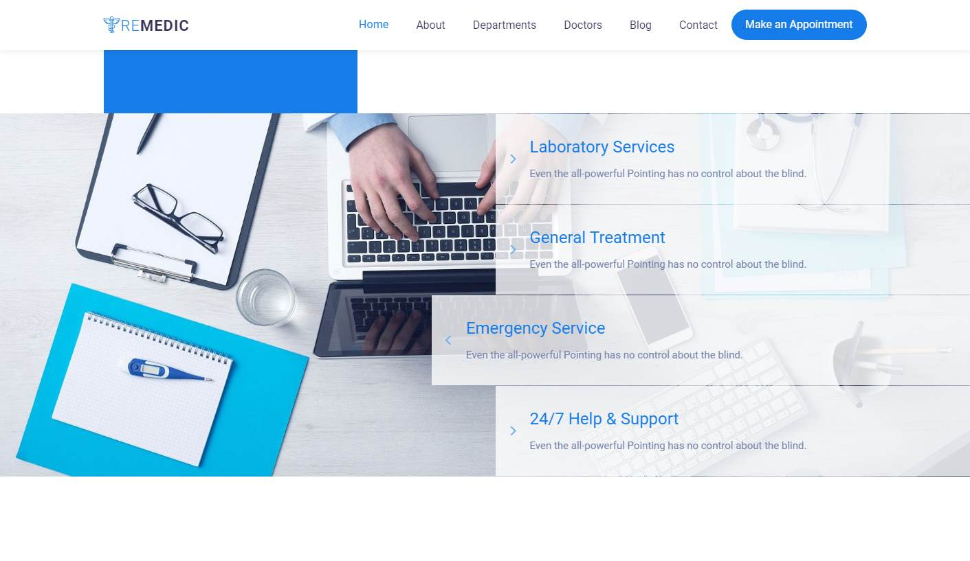 Remedic: a Cutting-Edge Free Medical and Hospital Website Template