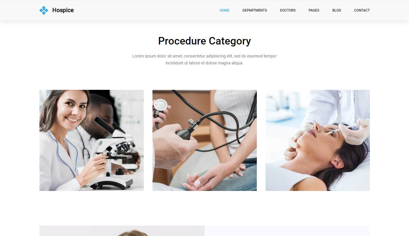 Hospice: a Versatile Free Clinic Website Template