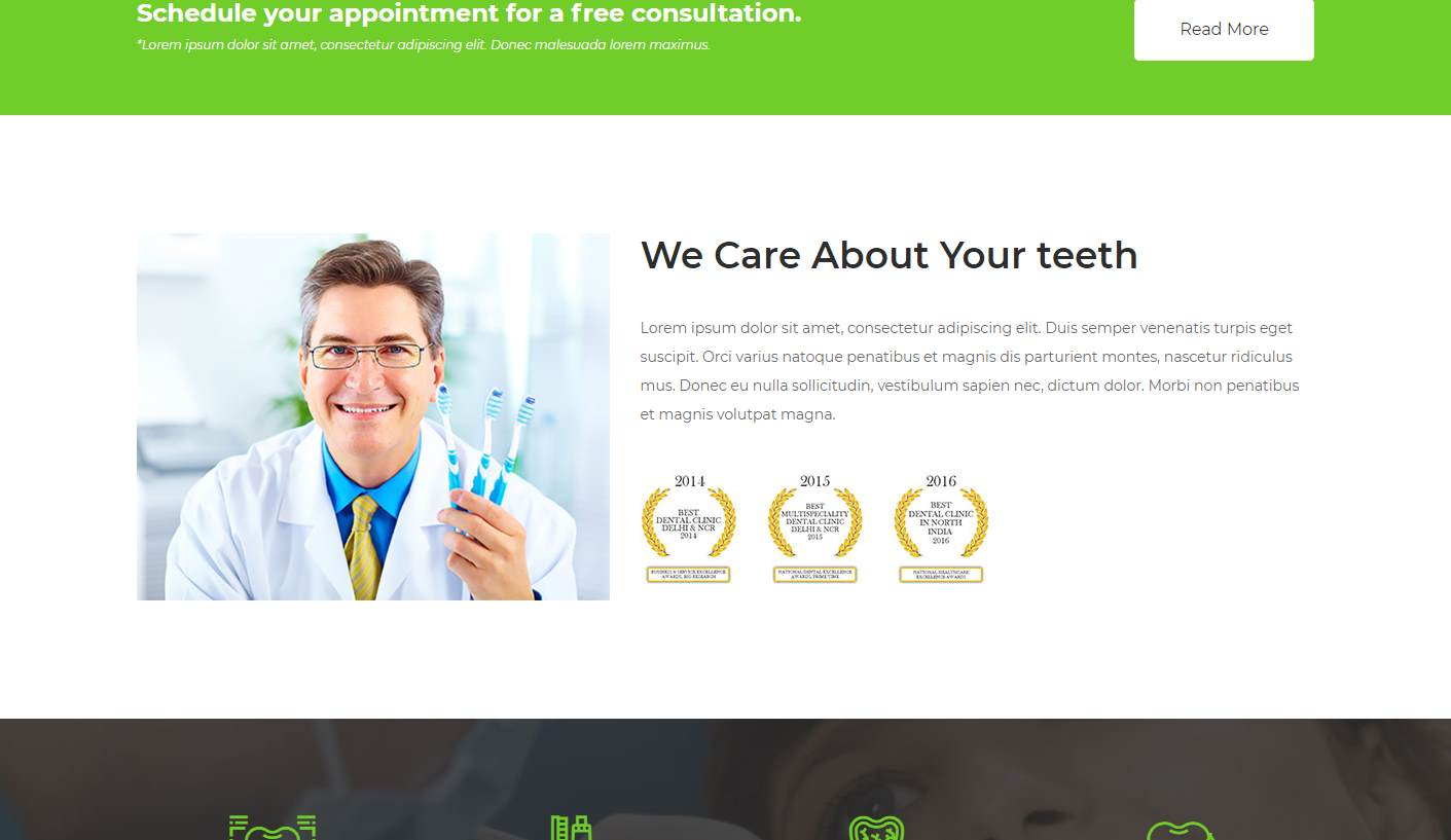 Prodent: a Free Dentistry Website Template