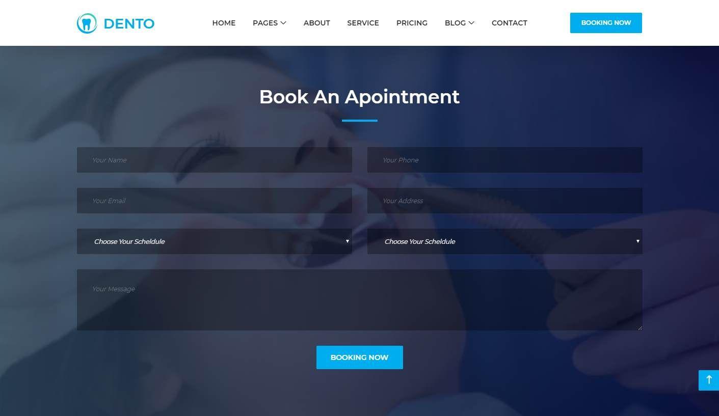 Dento: a Free Dental Care Website Template