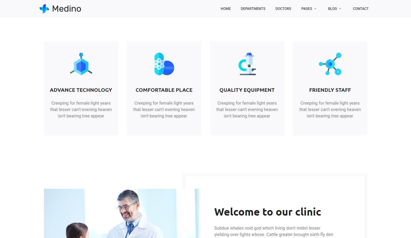 Medino: a Free Medicine Website Template