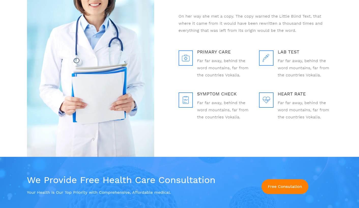 DrCare: a Multi-Purpose Free Healthcare Website Template