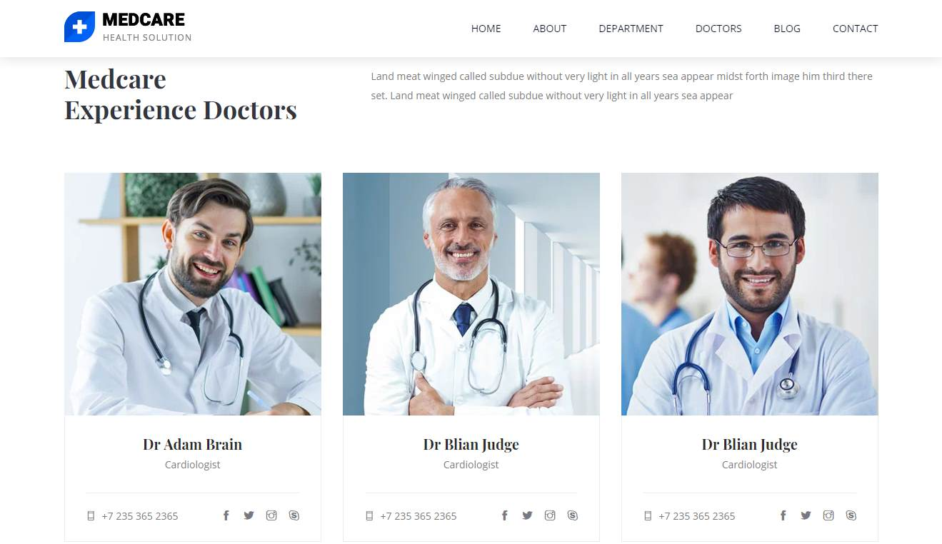 Medcare: a Free Healthcare Website Template