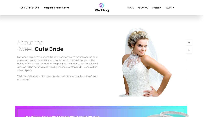 Wedding: a Free Wedding Website Template