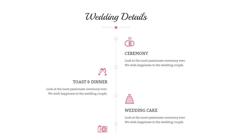 Wedding 2: a Free Responsive Wedding Website Template