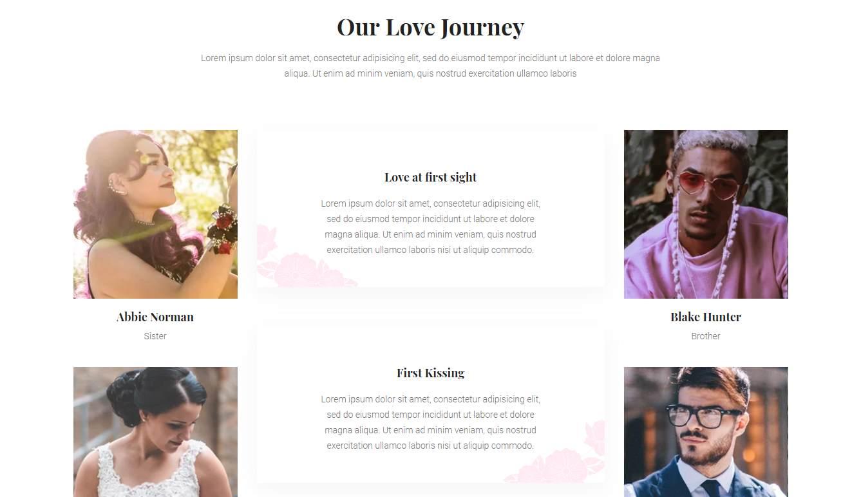 Honey: a Free HTML Wedding Website Template