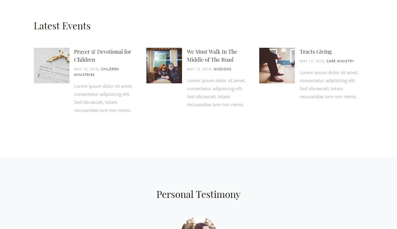 Inward: a Free Responsive Church Website Template