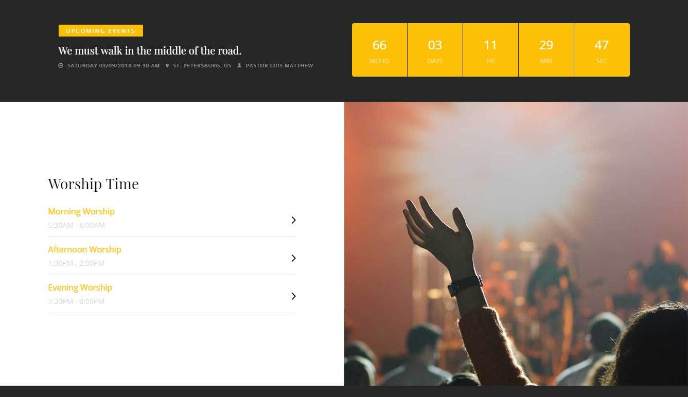 Advent: a Bootstrap Website Template for Churches, Ministries and Charities