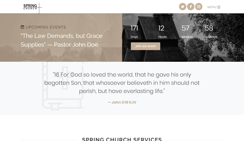 Spring: a Free Religious Website Template