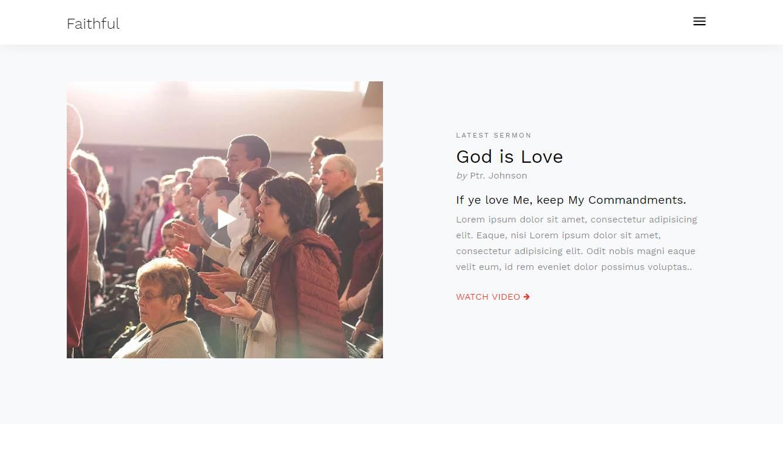 Faithful: a Faithful Free HTML Religious Website Template