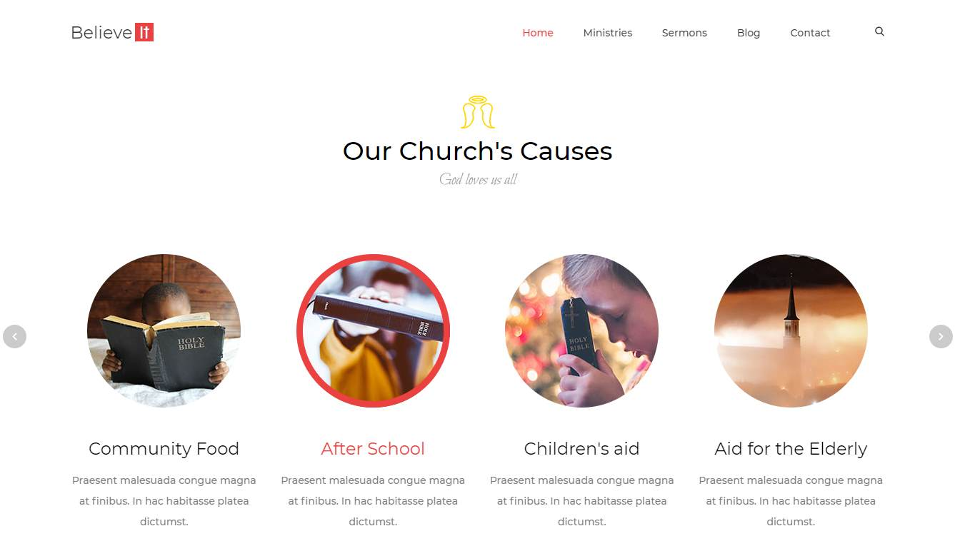 Church: a Free and Mobile-Ready Church Website Template