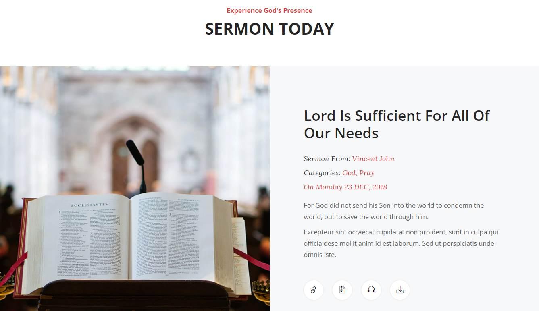 LibChurch: a Free Church Website Template.