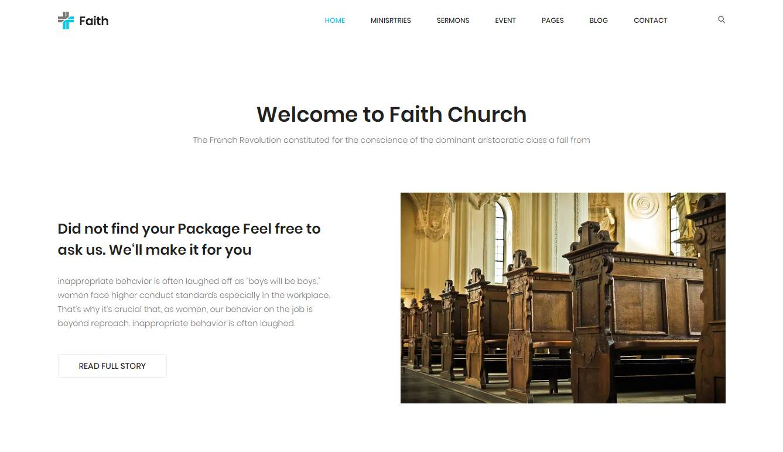 Faith: a free HTML Religious Website Template