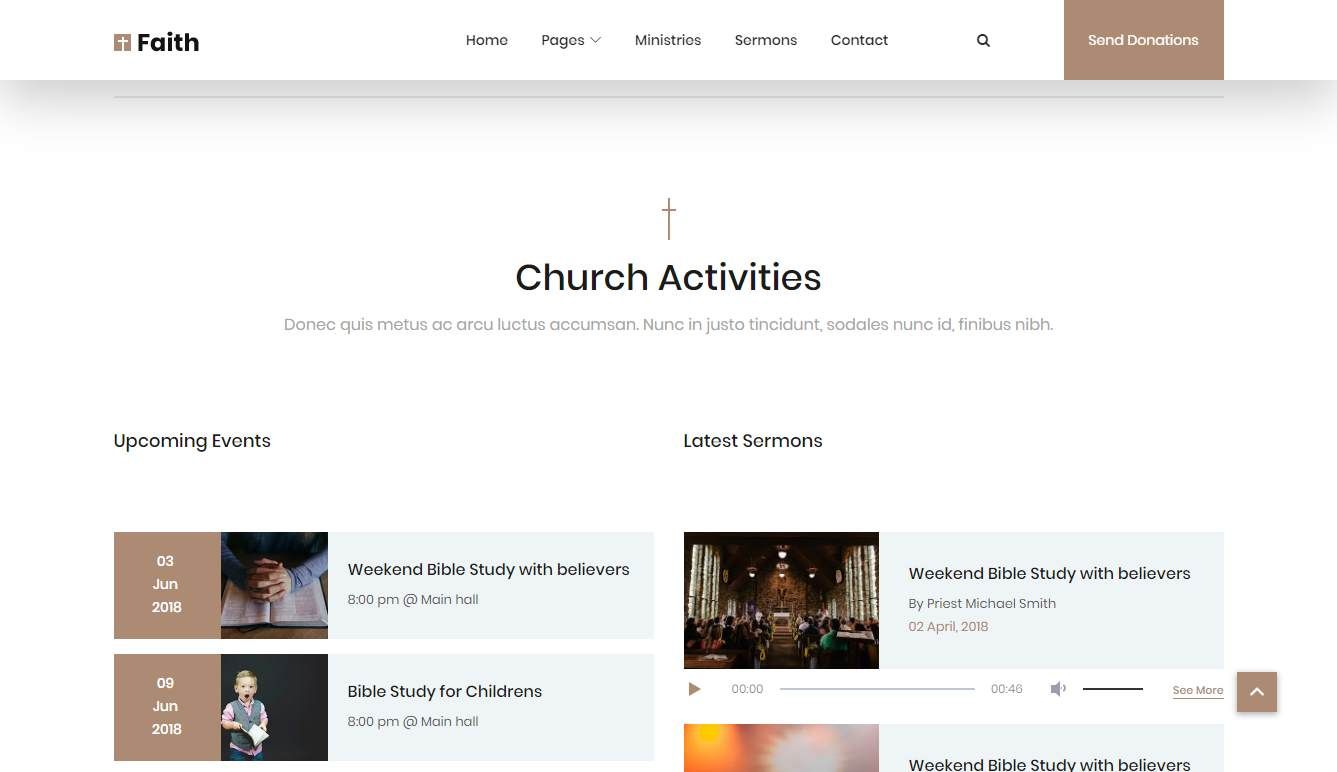 Faith 2: a Free Religious Website Template