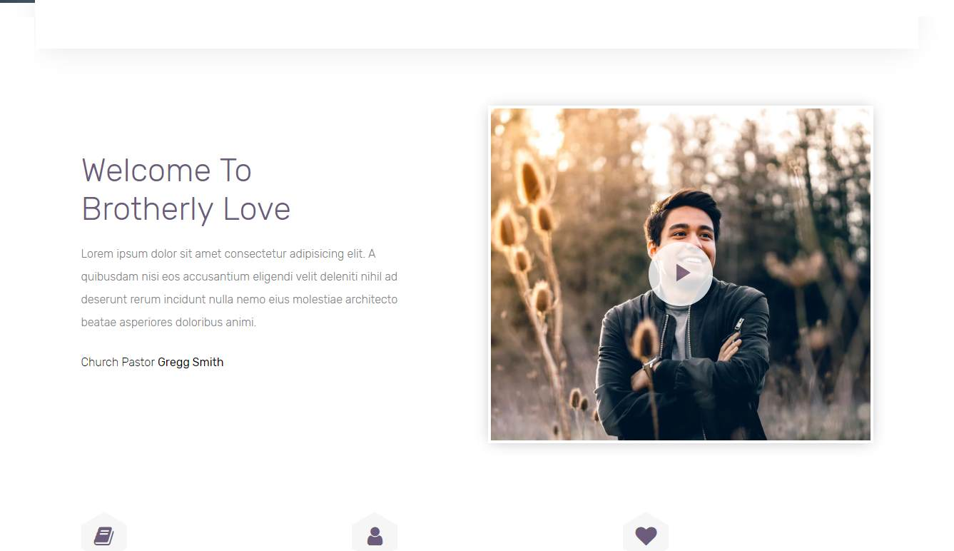 Brotherlylove: a divine and Professional, Free Responsive Church Website Template