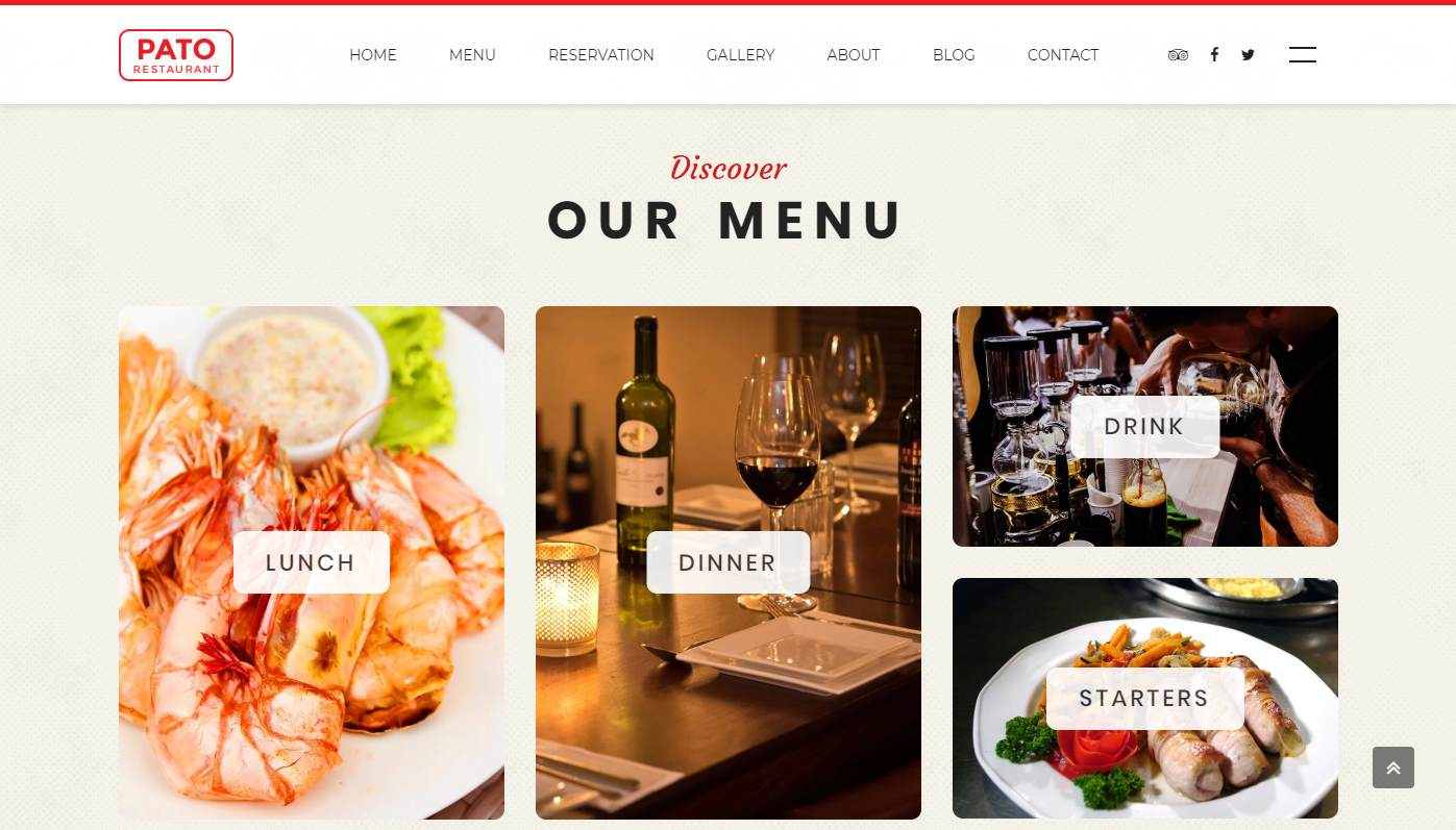 Pato: a Beautifully Crafted Restaurant Website Template