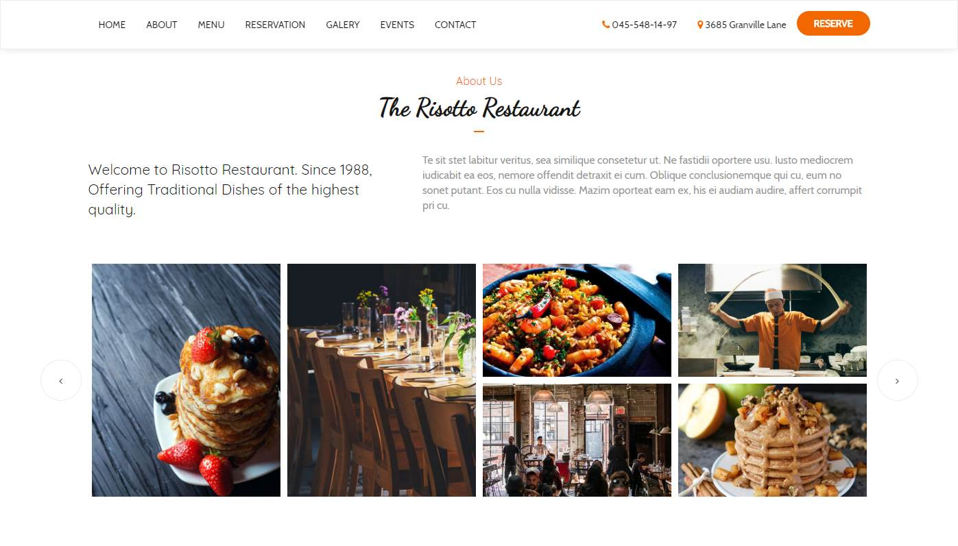Risotto: a Free Restaurant Website Template