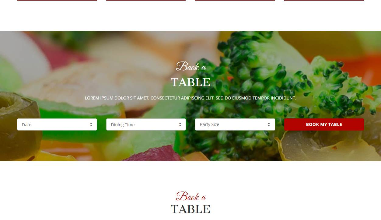 Redcayenne: a Free Bootstrap Restaurant Website Template