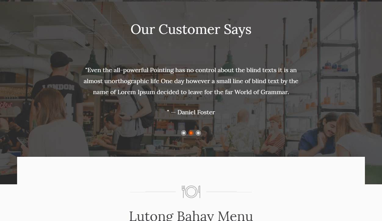 Luto: a Free Restaurant Website Template